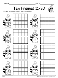 Pretty Printable Ten Frames Kindergarten Worksheets Free Blank ...