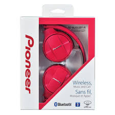 pioneer bluetooth headphones. pioneer semj553btr bluetooth on-ear headphones red