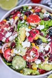 mexican salad with lime dressing recipe