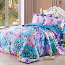 aqua blue and pink ocean wonders themed cute marine life fish print pertaining to kids queen size bedding decor 3