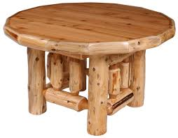 timberline round log dining table