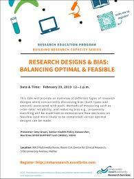 Bias In Research Design Research Design And Bias Balancing Optimal And Feasible