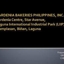 Gardenia Bakeries Philippines Inc Organizational Chart