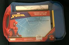 72 spiderman pictures to print and color. Marvel Spiderman 20ft Portable Rolling Paper Art Desk Coloring Sheet Crayons For Sale Online Ebay