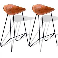 dining table bar stools set of 2 vintage leather upholstered tall counter chair