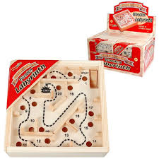 Wooden Maze Games Mini Wooden Labyrinth Maze Game Kidz Gifts 91