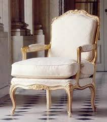 french style salon arm chair 1821 cream off white uphostery gold wood armchair