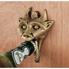 wall mounted gargoyle bottle opener