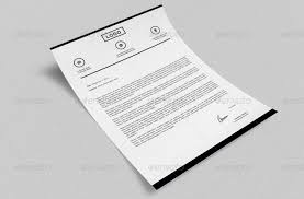 Black And White Letterhead Modern Letterhead Vol 20 With Ms Word Doc Docx
