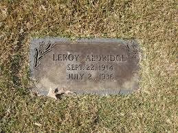 Leroy Aldridge (1914-1936) - Find A Grave Memorial