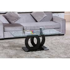 modern high gloss black centre coffee table new design tempered glass top loading zoom