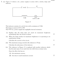 advanced higher physics past paper question help the its just 7a iv a i need help answer max current is less am i right in saying that the answer is the max current is less because usually th number