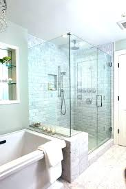 jetted tub with shower enclosure glass walk in bathtub combo awesome design ideas whirlpool spa