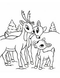 Small Picture Adult reindeer color page Printable Reindeer Coloring Pages Me