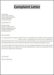 Complain Business Letter Complaint Letter Template Business Letter Template Formal