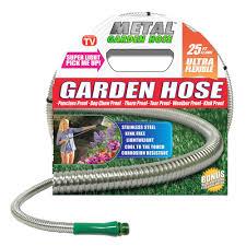 stainless steel metal garden hose