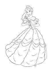 Belle Coloring Pages Free Domlinkovinfo
