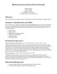 Marketing Communications Manager Resume Example Essaymafia Com