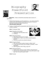 powerpoint biography biography powerpoint presentation