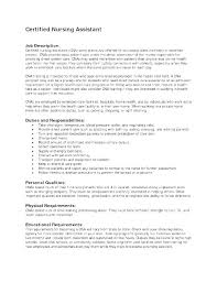Nursing Assistant Job Description For Resume Duties For Resume Cool Cna Responsibilities For Resume