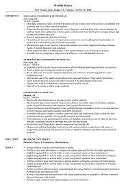 Resume Sample For Technician Composite Technician Resume Samples Velvet Jobs 18