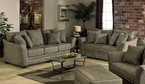 the brick living room furniture. Sofa And Brick Walls Decorated In Rustic Living Room The Furniture Interior Design