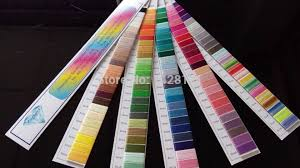Us 8 99 Simthread Polyester Embroidery Thread Color Chart Color Shade Card Color Cards With 120basic Popular Colors With Free Shipping In Thread