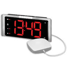 p10974 1 tcl410 big display radio controlled digital extra loud alarm clock with vibration pad
