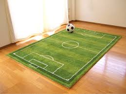 To accent your room! Reproduce the football stadium pitch in rag mat.