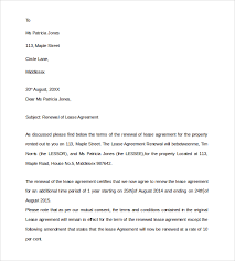 Renewal Letter Template Renewal Of Lease Agreement Letter How To Renew A Lease