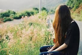Image result for tranh vẽ cô gái buồn