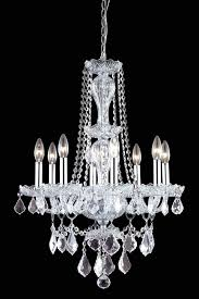 picture of elegant 7898d21c rc gie chandeliers chrome 21in