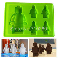 Decorative Ice Cube Trays L100 Robot Shape Silicone Cake Mold Ice Cube Tray Mold Sugar Craft 35
