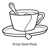 tea clipart. Simple Tea Tea Cup  Black And White Cartoon Illustration Vector To Clipart F