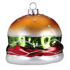 Magic Christbaumschmuck Hamburger 65cm Glas Handarbeit Mundgeblasen Handbemalt Weihnachtskugeln Baumkugeln Baumschmuck Lustig