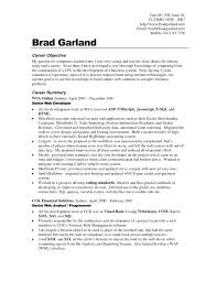 Occupational Goals Examples Resumes Examples Of Resumes