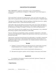Subcontractor Contract Template Subcontractor Long Form Contract Contractor And Employee 3