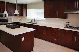 A Mahogany Shaker Cabinets Sample Kitchen Image 1
