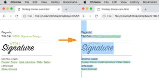 How To Create And Install A Html Email Signature In Google