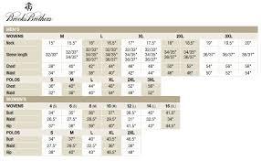 Brooks Brothers Size Chart