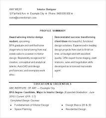Interior Design Resumes Returneemigrant Info