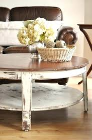 distressed coffee and end tables round parquet table medium size of white me roun