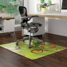 home office flooring ideas. Living Room Simple Home Office Design With Chair Mat Green Plastic Pattern  Decorative Dark Brown Wooden Flooring Ideas