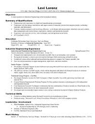 Engineer Resume Examples Resume Sample For Project Industrial Engineering  Experience ...