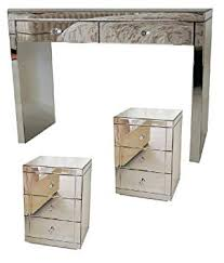 mirrored bedside furniture. MY-Furniture CHELSEA RANGE Mirrored Dressing Table/Console 2 X 3 Drawer  Bedside Mirrored Bedside Furniture L