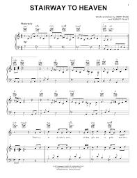 heaven piano sheet music stairway to heaven piano sheet music by led zeppelin piano voice