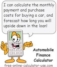 Automobile Finance Calculator With Tax Trade In Down Payment