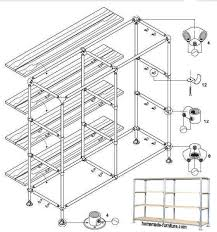 storage rack from metal pipes with wooden shelves