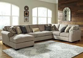 carpenter 4 pc leather sectional sofa saunter reclining