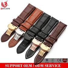 18mm 20mm 22mm 24mm watch strap belt genuine leather watch strap stainless steel buckle las men wrist watch band straps whole watch wristband v877